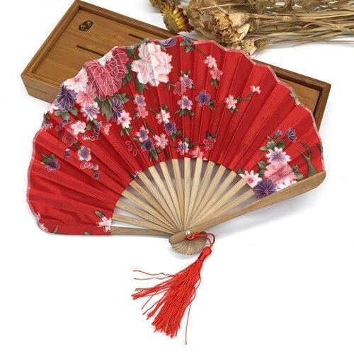 Japanese Red Silk Fan