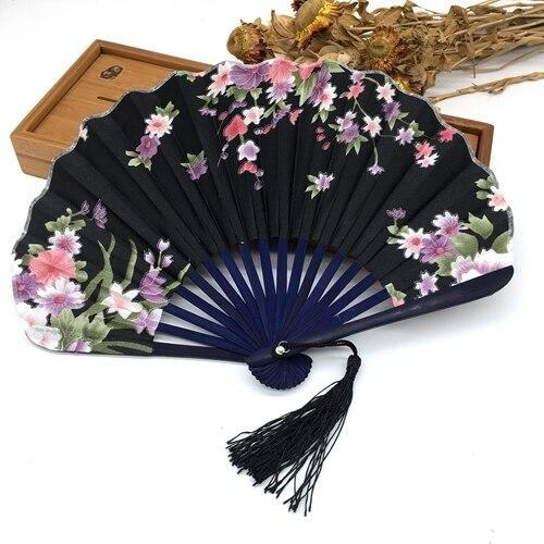 Japanese Black Fabric Fan