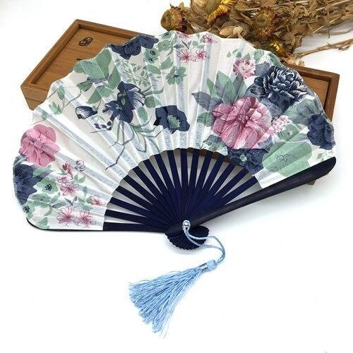 Japanese Fan in Pastel Fabric