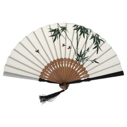 Japanese bamboo pattern fan