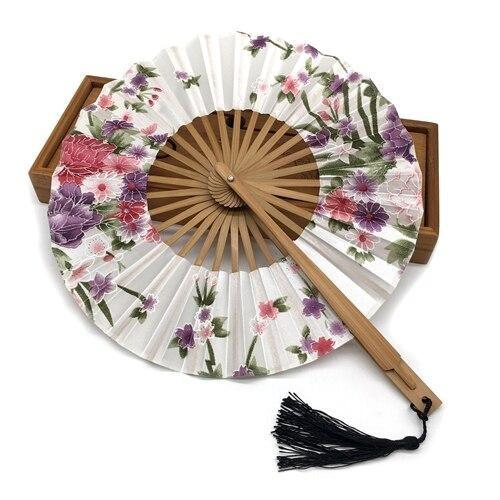 Japanese Round Fan White