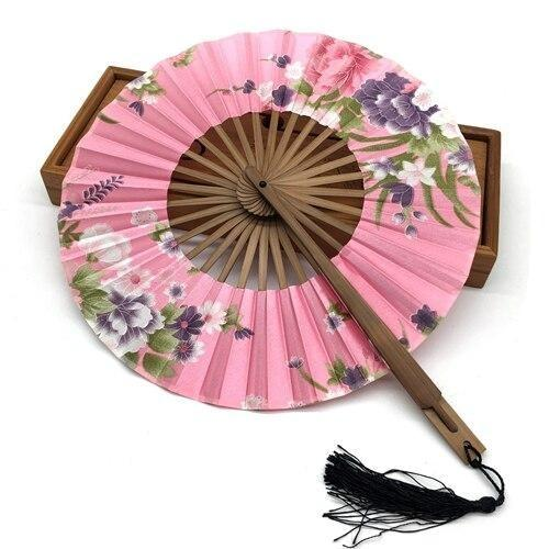 Japanese Round Fan Pink
