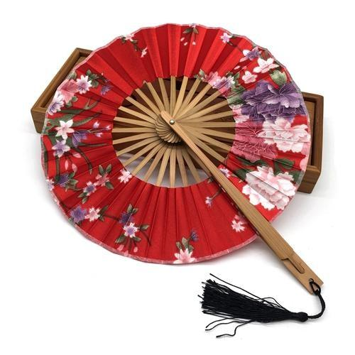 Japanese Round Fan Red