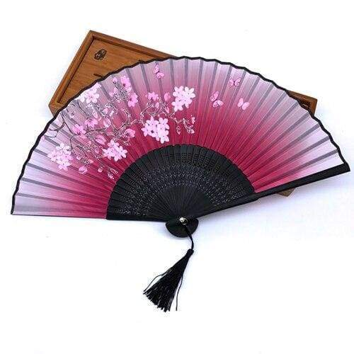 Fuchsia Pink Japanese Fan
