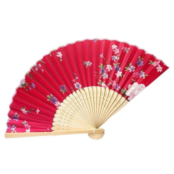 Japanese Red Bamboo Fan