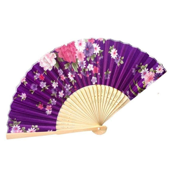 Japanese Purple Bamboo Fan