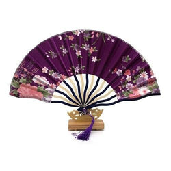 Japanese Fan Purple & Floral
