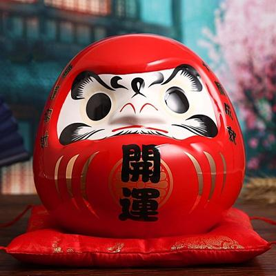 Large Daruma Money Box Red