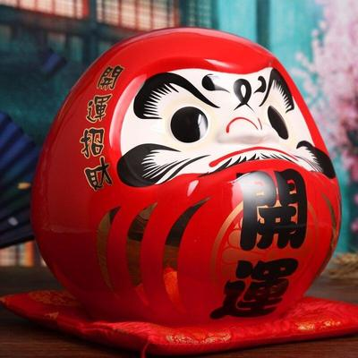 Large Daruma Money Box Red front view