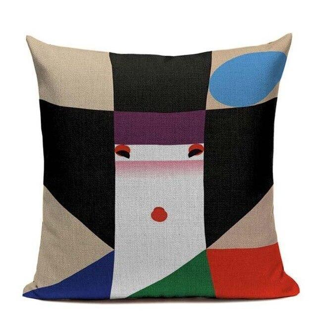 Japanese Design Cushion Cover - Geisha