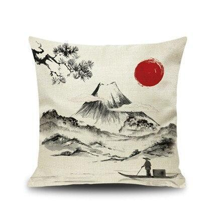Japanese Cushion Cover - The Fisherman