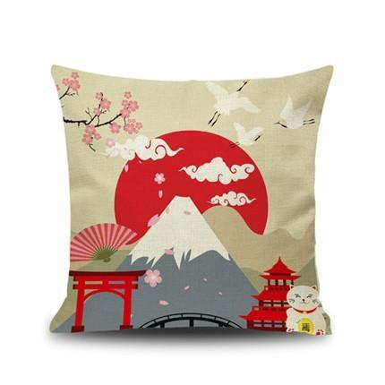Japanese Cushion Cover - Mount Fuji