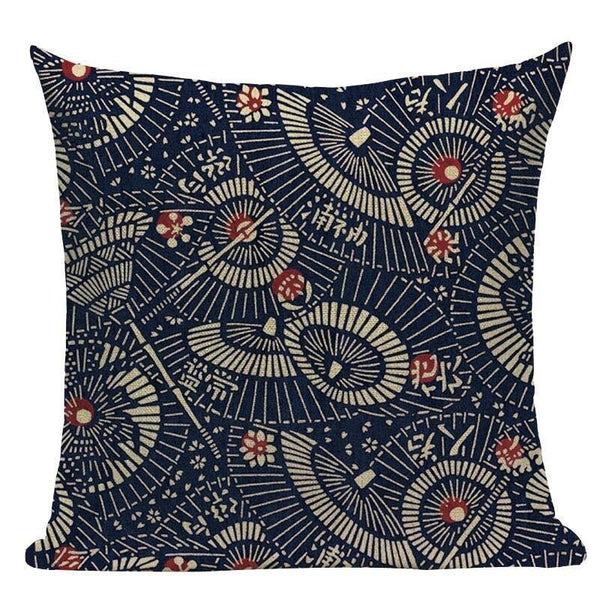 Japanese Cushion Cover - Umbrellas