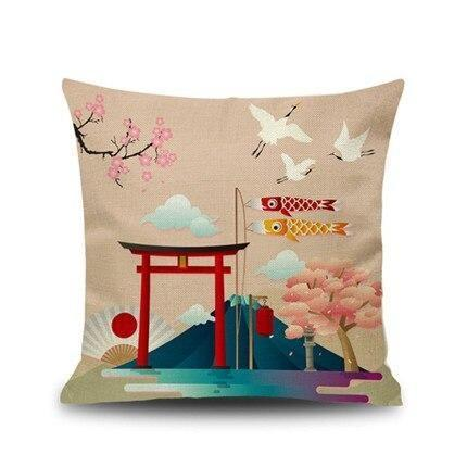 Japanese Cushion Cover - Torii