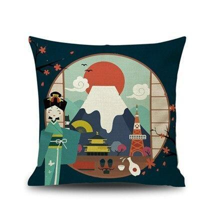 Japanese Cushion Cover - Welcome in Japan