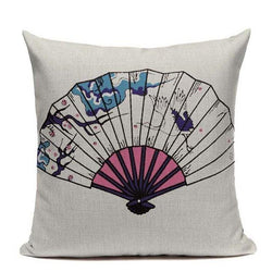 Japanese Style Cushion Cover - Fan
