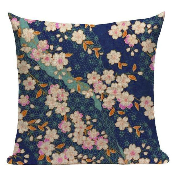 Japanese Style Cushion Cover - Cherry Blossoms