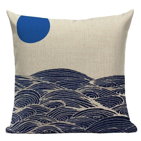 Japanese Style Cushion Cover - Calm Sea