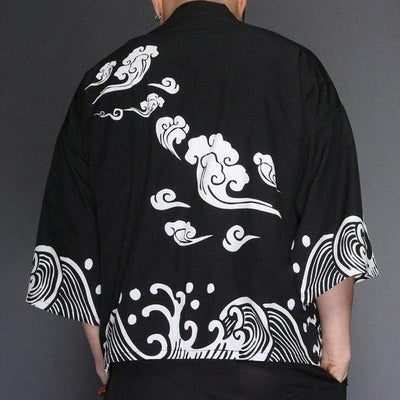 Japanese haori jacket back view