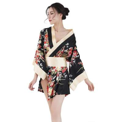 Japanese Night black Kimono for Women
