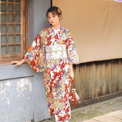 Japanese Kimono Woman Haru, front view with model