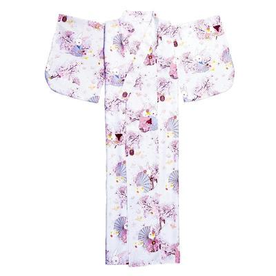 traditional Japanese Kawaii Kimono for Woman, view on kimono without model