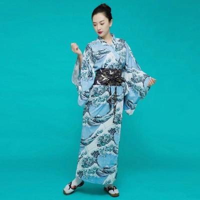 Japanese Kimono Woman, The Great Wave, lateral view