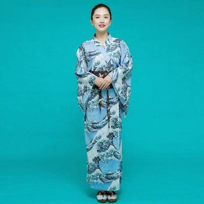 traditional Japanese Kimono for Woman, The Great Wave
