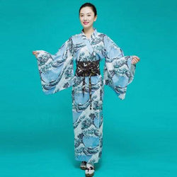 Japanese Kimono Woman, The Great Wave