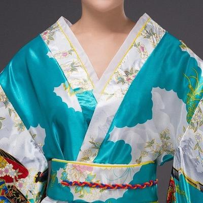 Japanese Traditional Woman Kimono Taakoizuburuu, close up view