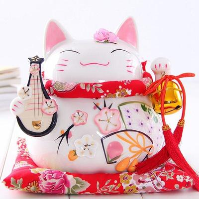 Maneki Neko Money Box White