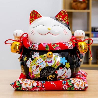 Maneki Neko Money Box Black