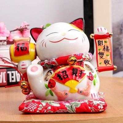 Maneki Neko Money Box Parchment