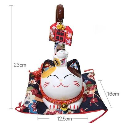 japanese Maneki Neko Money Box Long Tail features