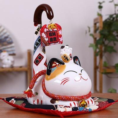 Maneki Neko Money Box - Long Tail