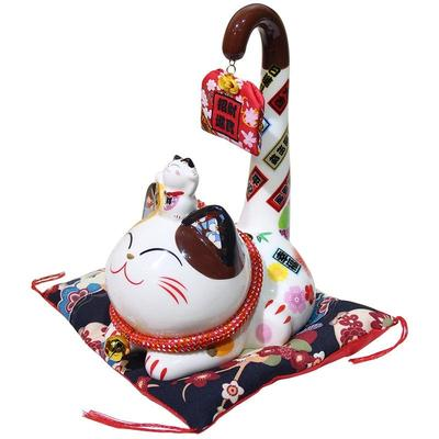 japanese Maneki Neko Money Box Long Tail lateral view