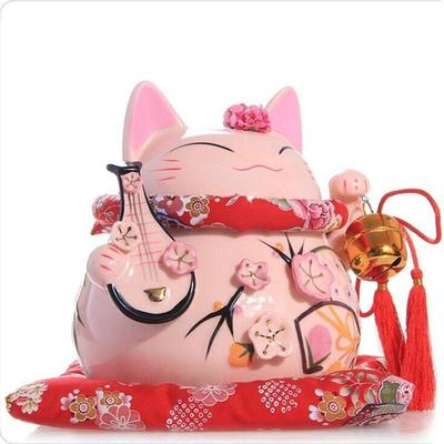 japanese Maneki Neko Money Box Pink for holding money