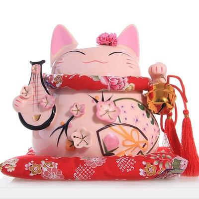 japanese Maneki Neko Money Box Pink