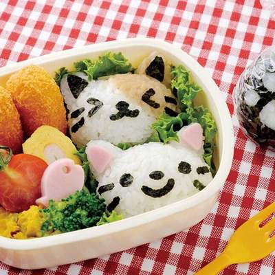 Japanese Cat Head Onigiri