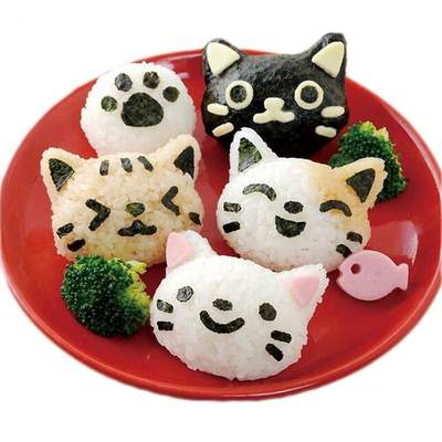 Japanese Cat Head Onigiri Mold