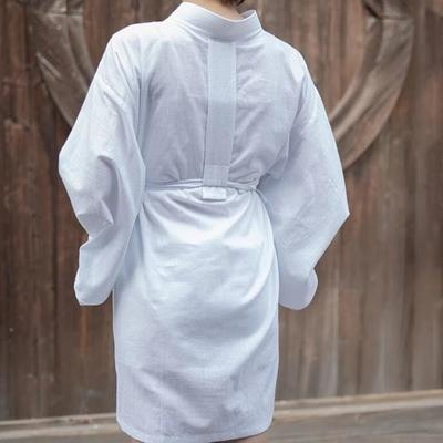 Japanese white Nagajuban for Women for meditation, streetwear,back view