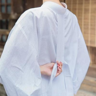 Japanese white Nagajuban for Women lateral view