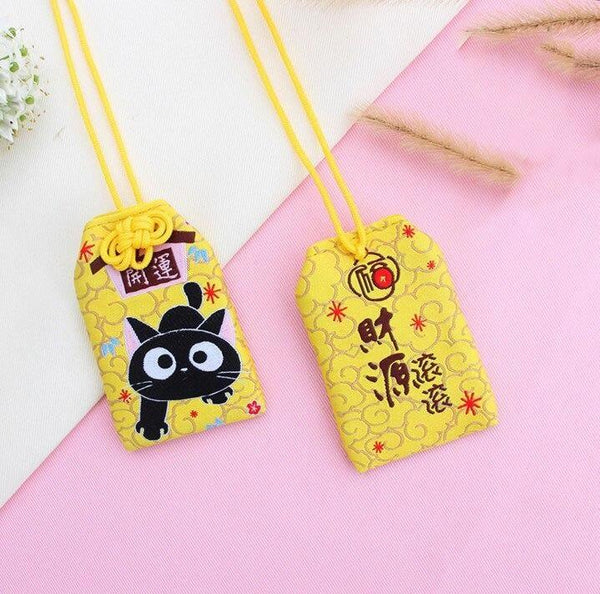 Omamori Kawaii Black Cat