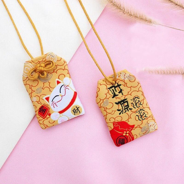 Omamori Kawaii Orange Maneki Neko