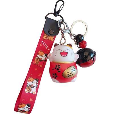 Maneki Neko Japanese Cat Keychain for home