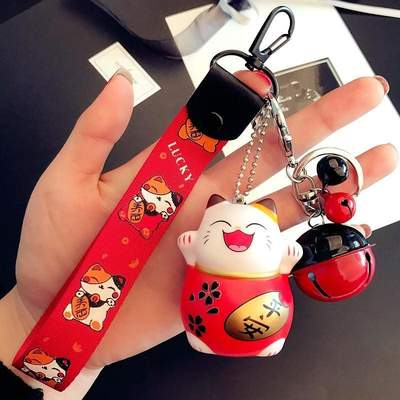 Maneki Neko Japanese Cat Keychain