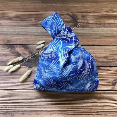 Blue Japanese Hanabi Printed Bag