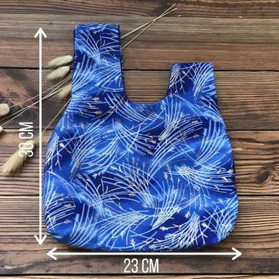 Blue Japanese Hanabi Printed Bag features