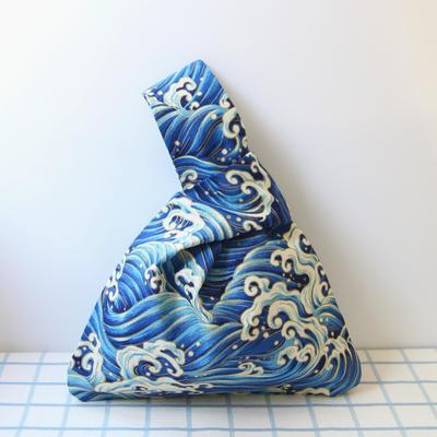Japanese Araumi Printed Bag Blue