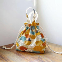Japanese Kinchaku bag - Kaze pattern
